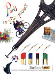 BIC 4 parfums (Jour for Women - Nuit for Women - For Men - Sport for Men) 1989 US 'Paris in your pocket - New! - Four crazy little pocket perfumes -  From Paris straight to you'