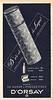 D'ORSAY Diverse (Le Dandy + Voulez-Vous) 1963 France 'Dor et du laque - Atomizer le plus précieux - Cadeau le plus pestigieux'