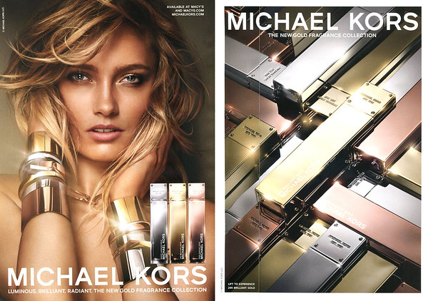 MICHAEL KORS Gold Collection 2015 US (rv scent strip) 'Luminous - Brilliant - Radiant - The new fragrance collection'