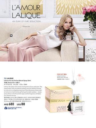 LALIQUE L'Amour 2015 Hong Kong An Elixir of pure seduction - Free gift - Lalique necklace'