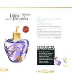 LOLTA LEMPICKA Le Premier Parfum 2011 France (Sephora stores) format 20 x 20 cm 'Un comte de f�es qui re-enchante le quotidien'